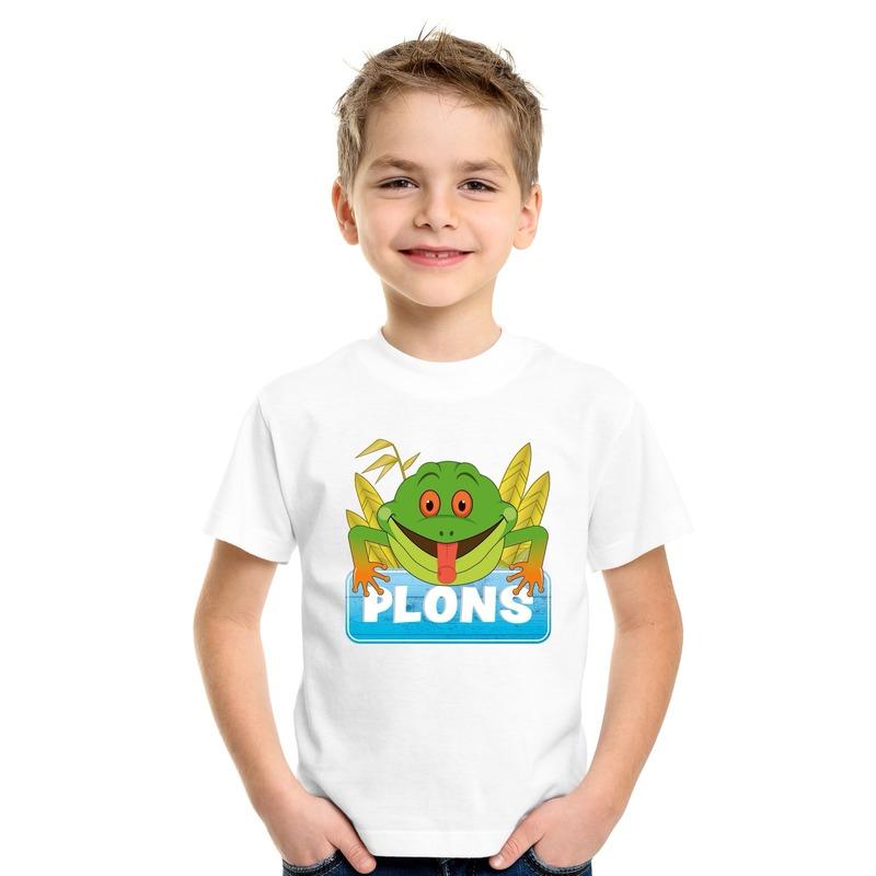 Afbeelding Kikker dieren t-shirt wit voor kinderen door Animals Giftshop
