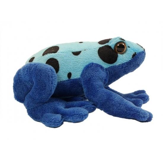 Kikker knuffels blauw 18 cm