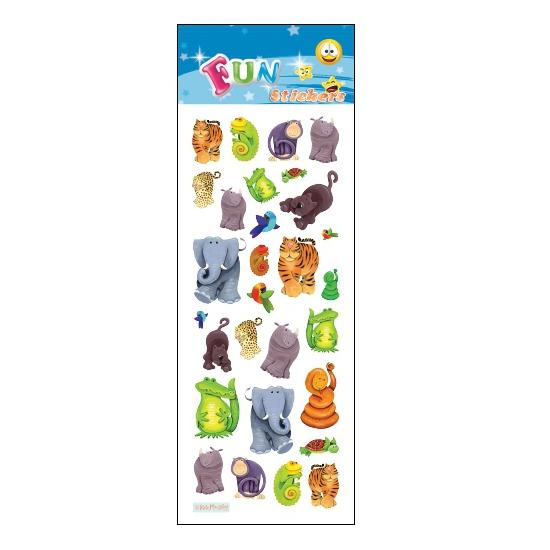 Kinder jungle dieren stickers