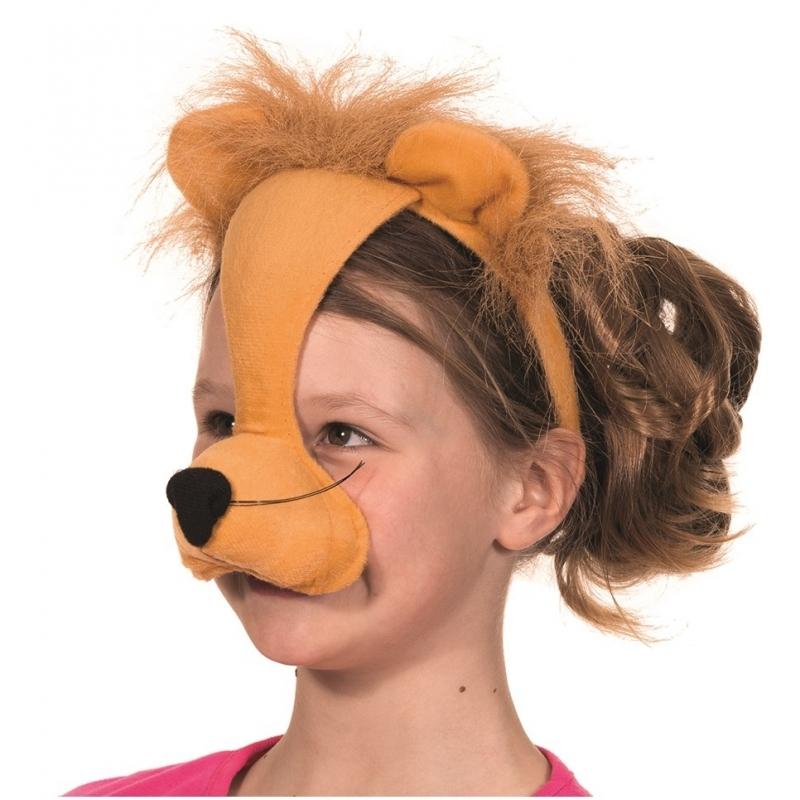 Kinder leeuwen masker met geluid