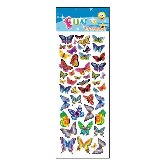 Kinder stickers gekleurde vlinders