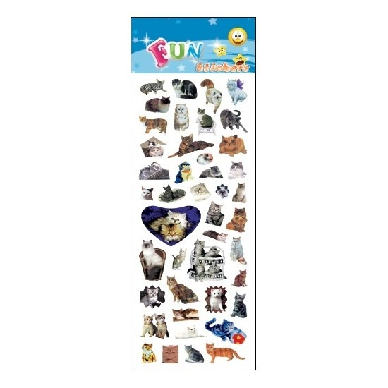 Kinder stickers poezen/katten