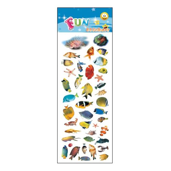 Kinder tropische vissen stickers