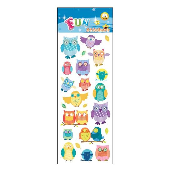 Kinder uilen stickers