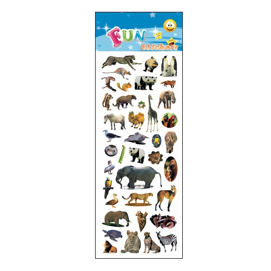 Kinder verschillende dieren stickers