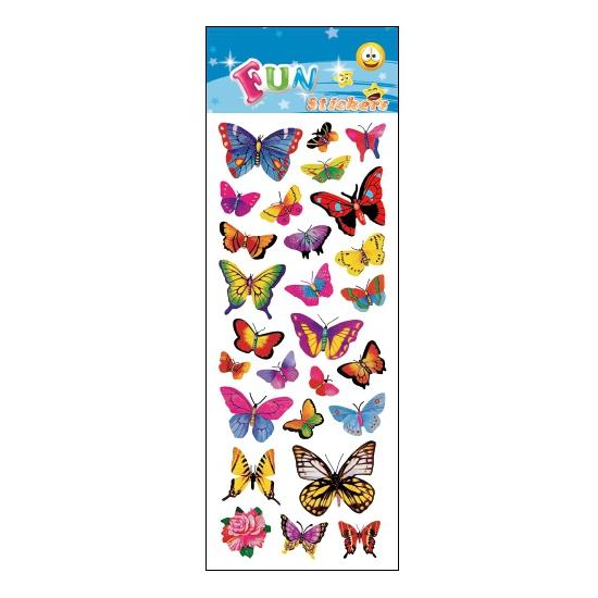 Kinder vlinders stickers 25 stuks