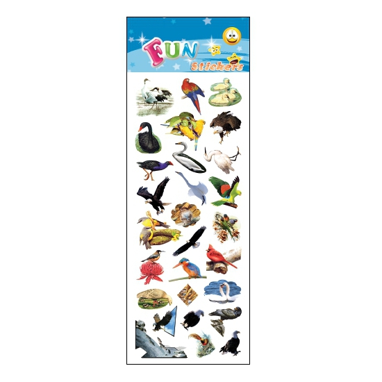 Kinder vogels stickers