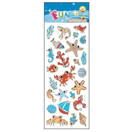 Kinder zee dieren stickers krabben