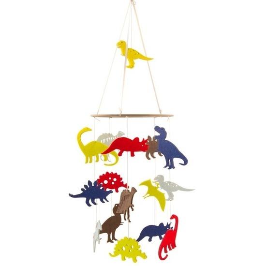 Kinderkamer boxmobiel dinosaurus thema 55 cm vilt