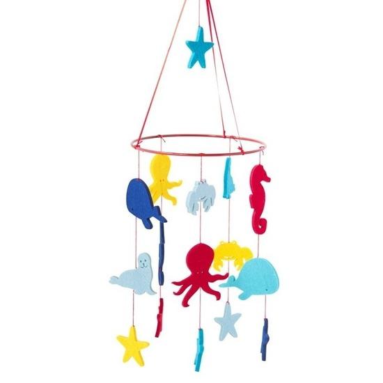 Kinderkamer boxmobiel onderwater thema 55 cm vilt