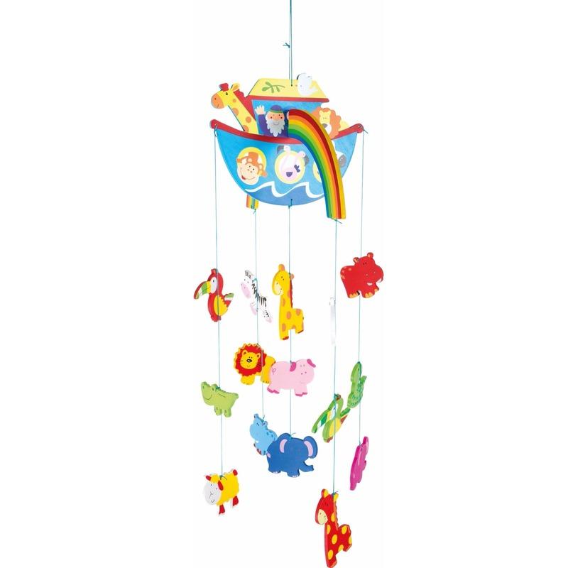 Kinderkamer decoratie mobiel boot met dieren voor jongens