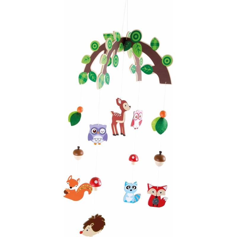 Kinderkamer decoratie mobiel bosdieren voor meisjes