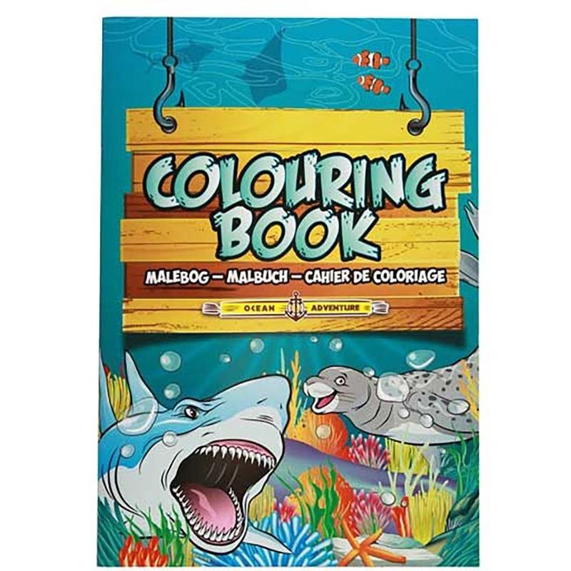 Kinderspeelgoed oceaan dieren thema kleurplaten A4 formaat kleurboeken/tekenboeken