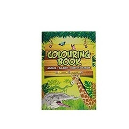 Kinderspeelgoed wilde dieren thema kleurplaten A4 formaat kleurboeken/tekenboeken