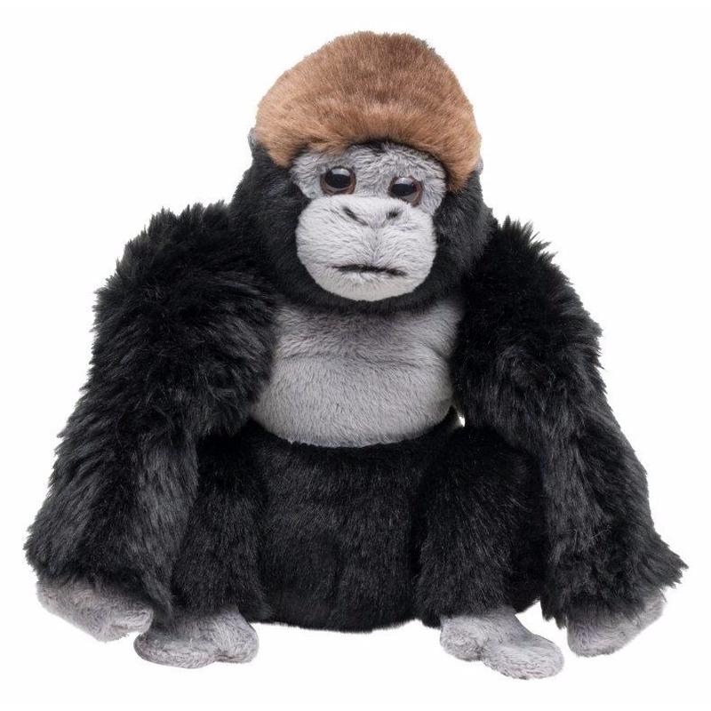 Knuffel aap zwarte gorilla 18 cm