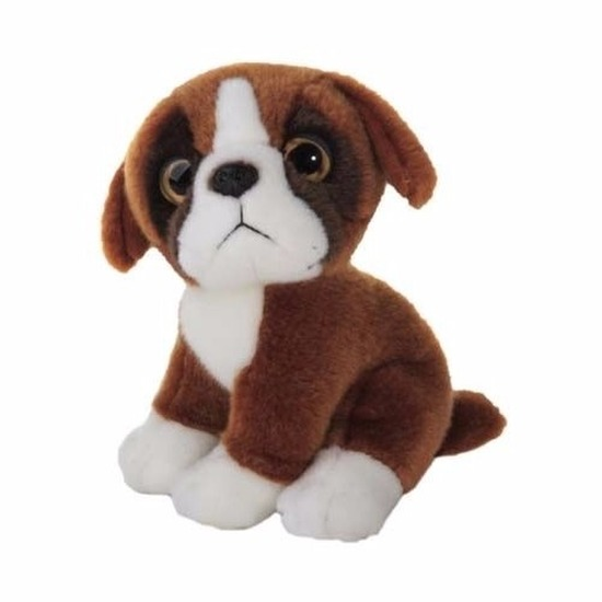 Knuffel hond boxer 18 cm