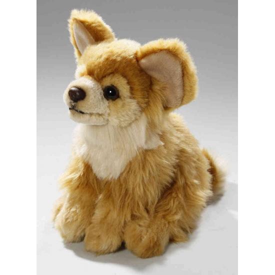 Knuffel hond bruine Chihuahua 17 cm