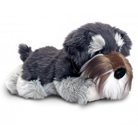 Knuffel hond Schnauzer 30 cm