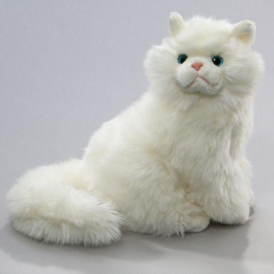 Knuffel kat Perzisch wit van 30 cm