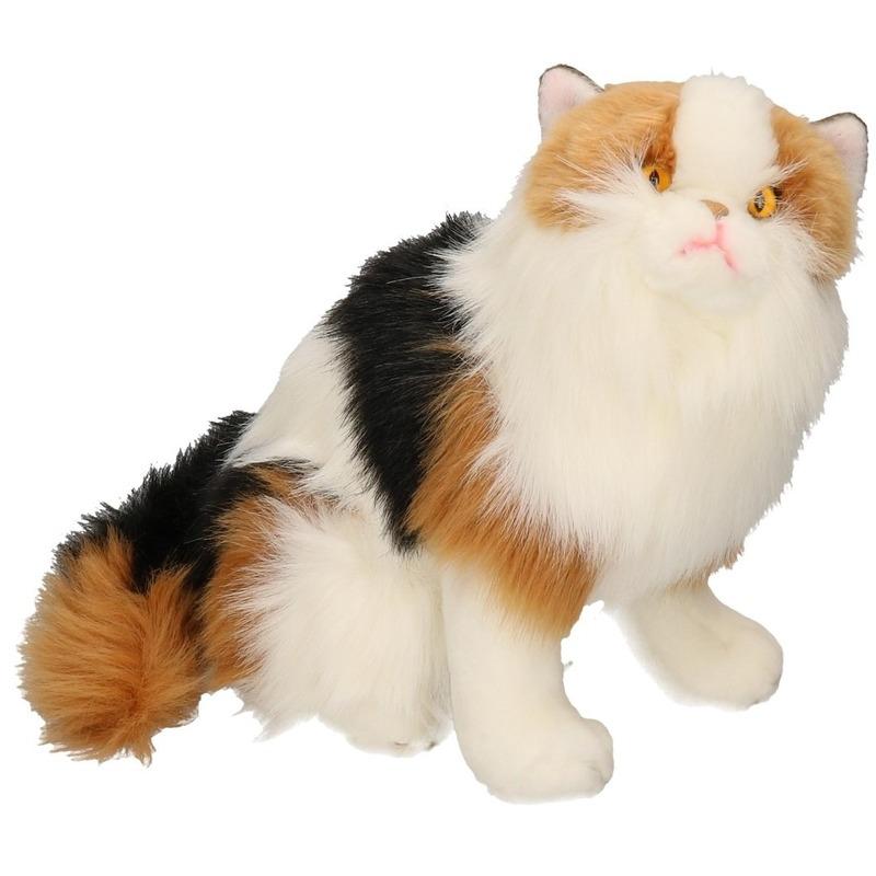 Knuffel kat rood bont 35 cm