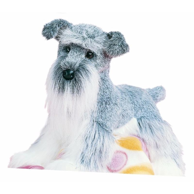 Knuffeldier hond Schnauzer 41 cm