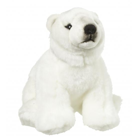 Knuffeldier ijsbeer 22 cm