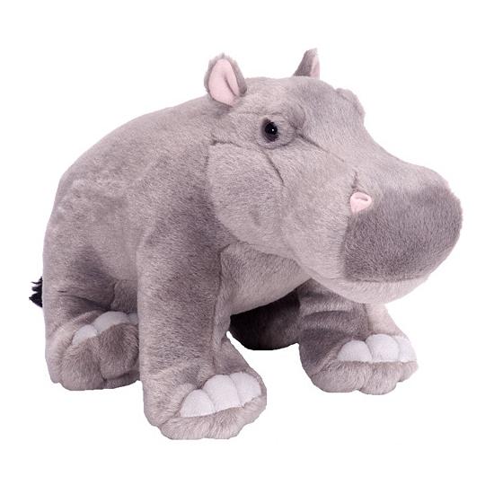 Knuffeldier nijlpaard 30 cm