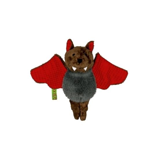 Knuffeldier vleermuis met rode vleugels