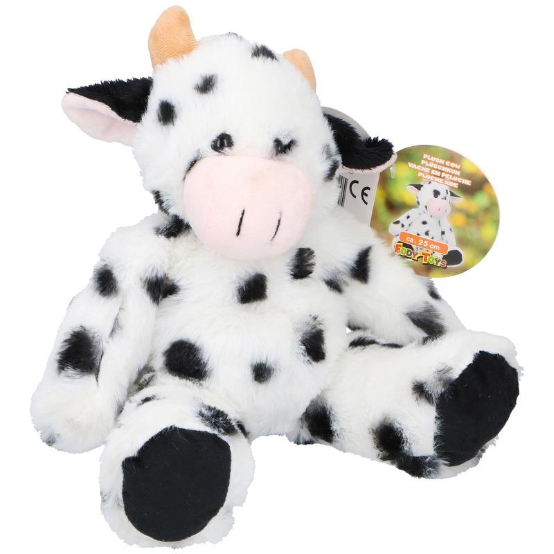 Koe/koeien boerderijdier knuffels 25 cm knuffeldieren