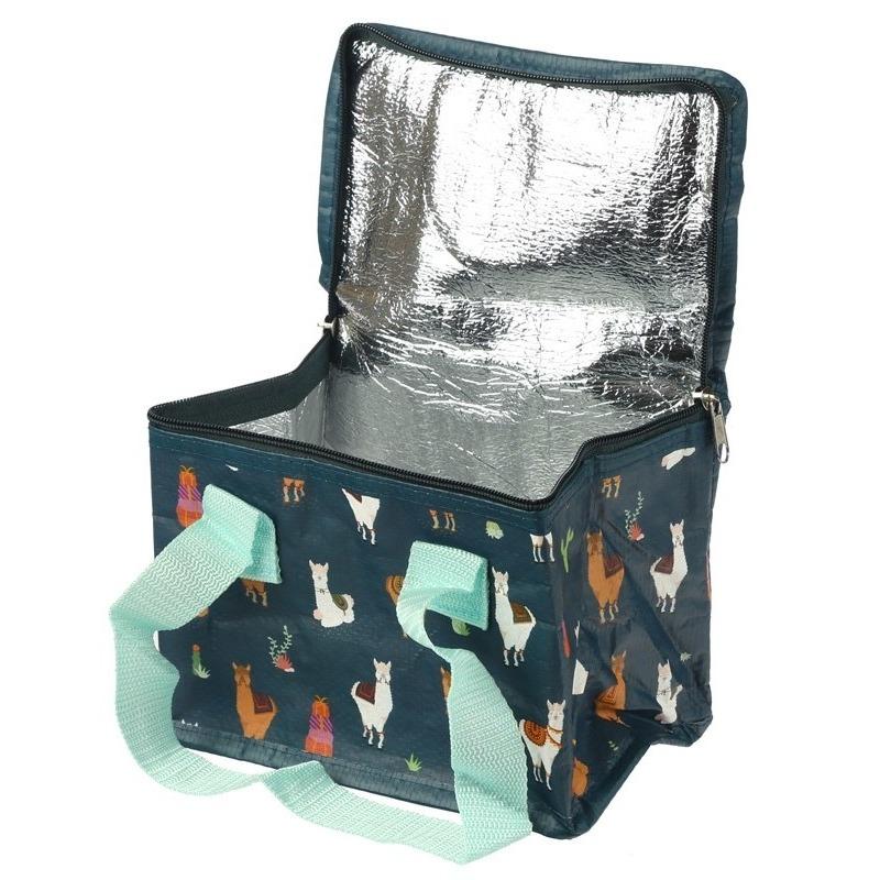Afbeelding Koelbox/koeltas alpaca/lama print voor 6 blikjes door Animals Giftshop
