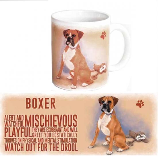Koffie beker Boxer hond
