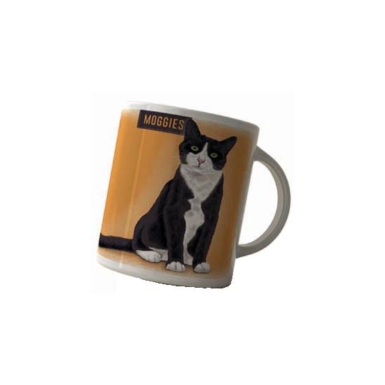 Koffie beker zwart witte kat