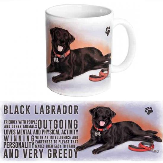 Koffie beker zwarte Labrador hond
