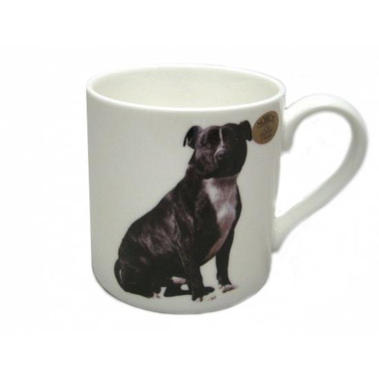 Koffie mok zwarte Stafford hond