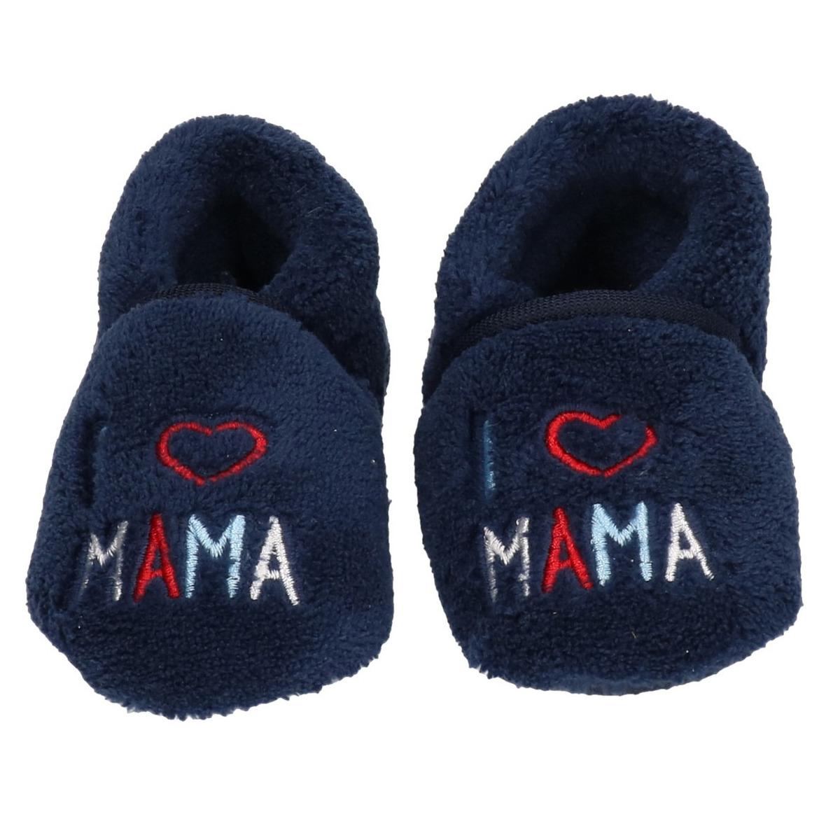 Kraamkado babyslofjes blauw I love mama