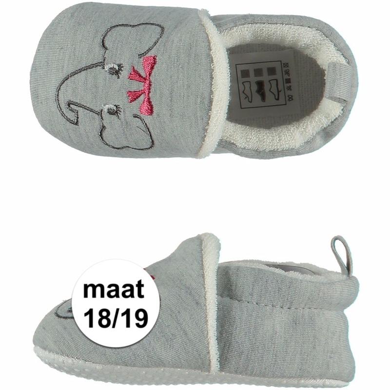Kraamkado babyslofjes met olifantje maat 18/19