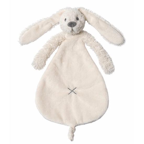 Kraamkado wit knuffeldoekje konijn