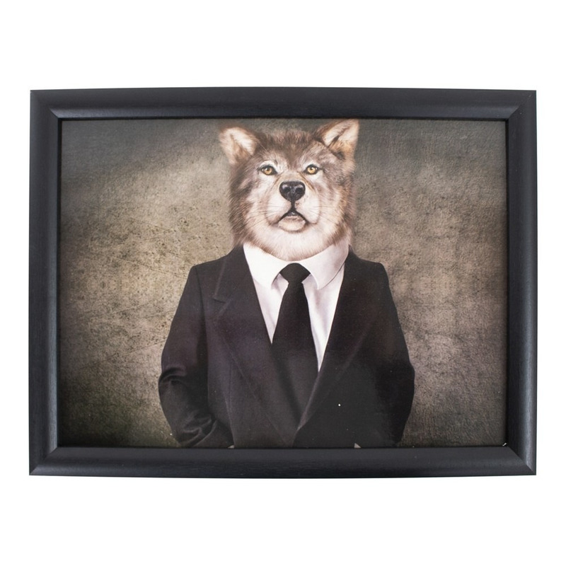 Laptray/schoottafel mr. wolf in pak print 43 x 33 cm
