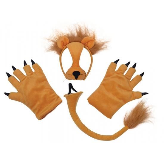 Leeuw verkleed set 3 delig