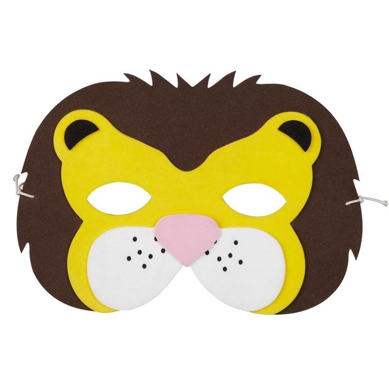 Leeuwen foam masker voor kinderen