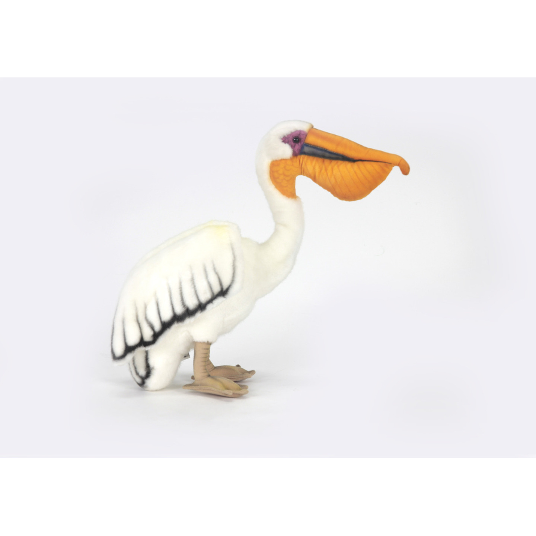Levensechte witte pelikaan knuffel