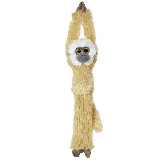 Lichtbruine hangende gibbon aap/apen knuffel 49 cm knuffeldieren