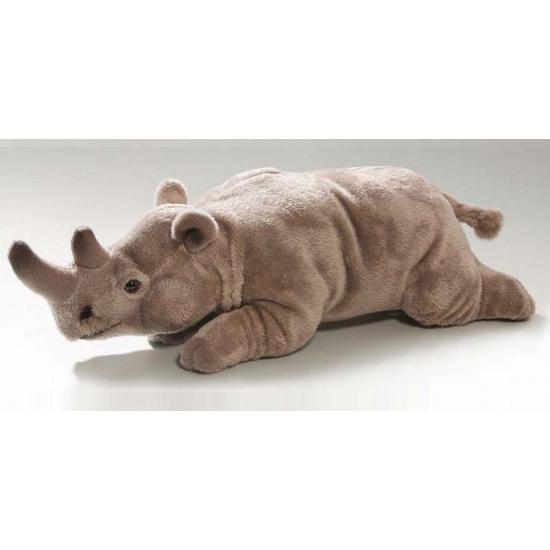 Afbeelding Liggende knuffel neushoorn 26 cm door Animals Giftshop