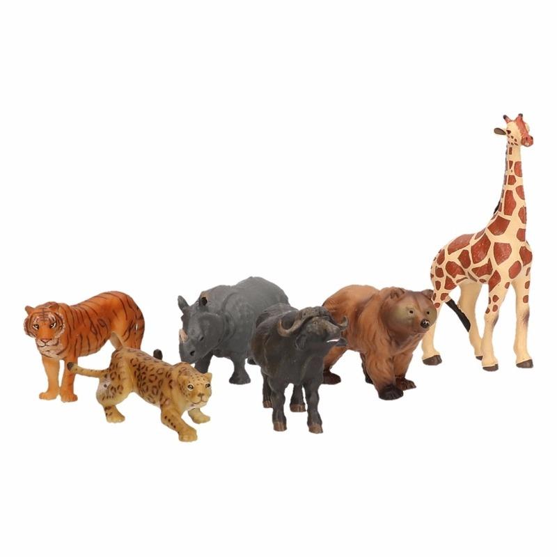 Luxe speelfiguren safari dieren 6,5 cm