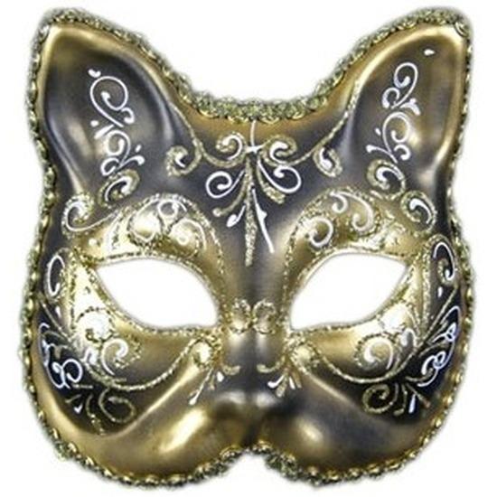Luxueus masker klassieke kat