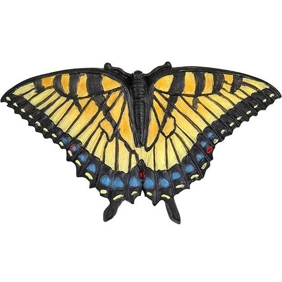 Magneet gekleurde pages vlinder 7 cm koelkast magneetjes