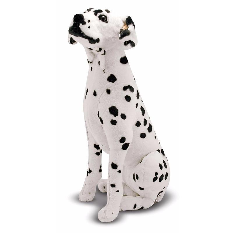 Mega dalmatier honden knuffel