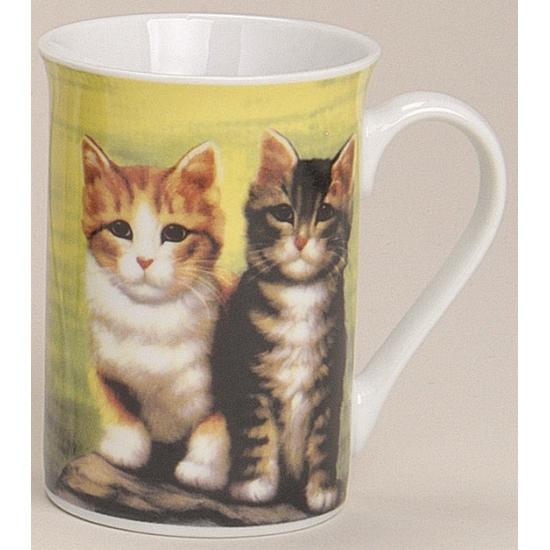 Melkbeker met katten groen 10 cm