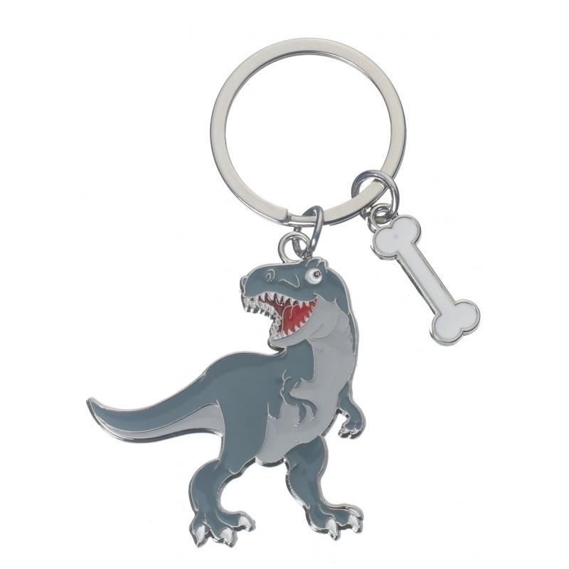 Metalen sleutelhanger t-rex 5 cm