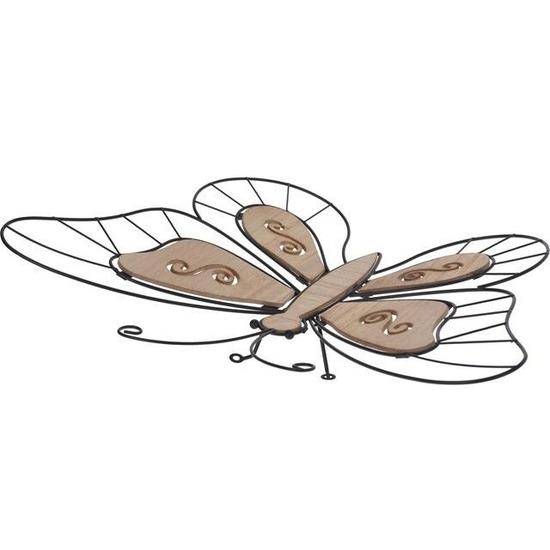 Metalen tuin vlinder 55 cm
